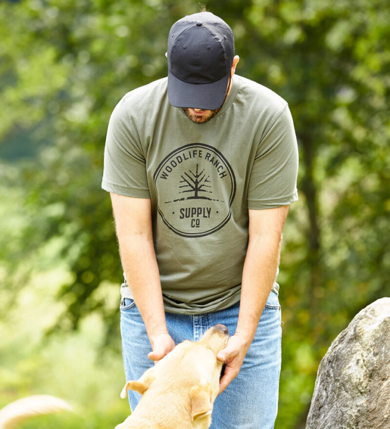 Woodlife Ranch Logo Green T-shirt