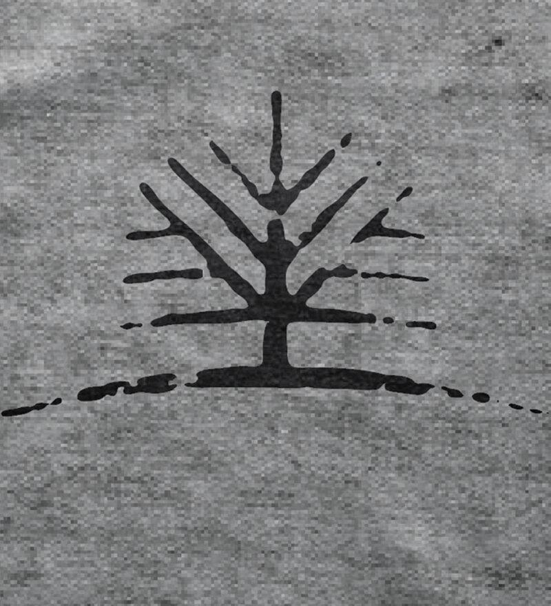 Woodlife Ranch Tree Gray T-shirt