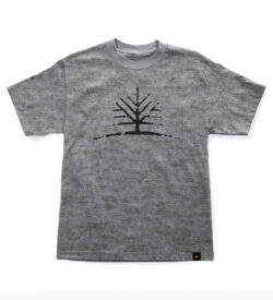 Woodlife Ranch Tree Gray T-shirt