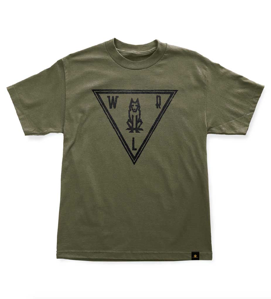 Woodlife Ranch Wolf T-Shirt Green