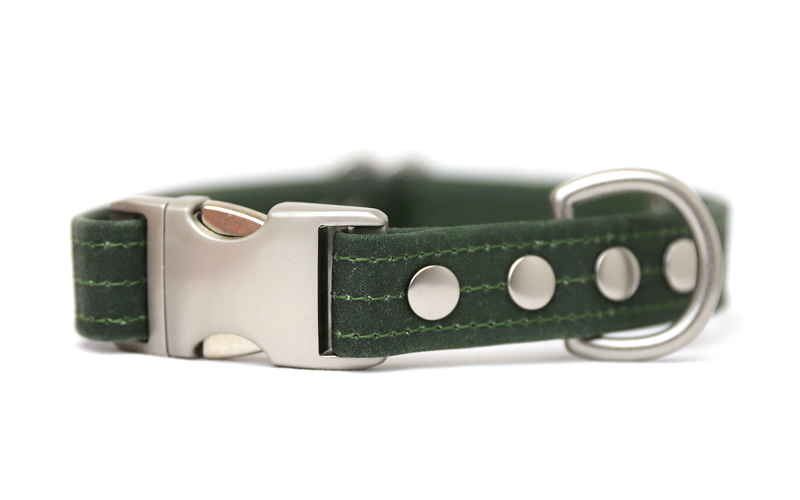 Woodlife Ranch Green Dog Collar