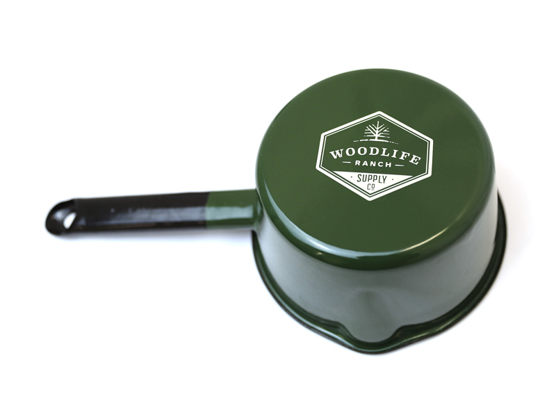 Woodlife Ranch Enamel Saucepan