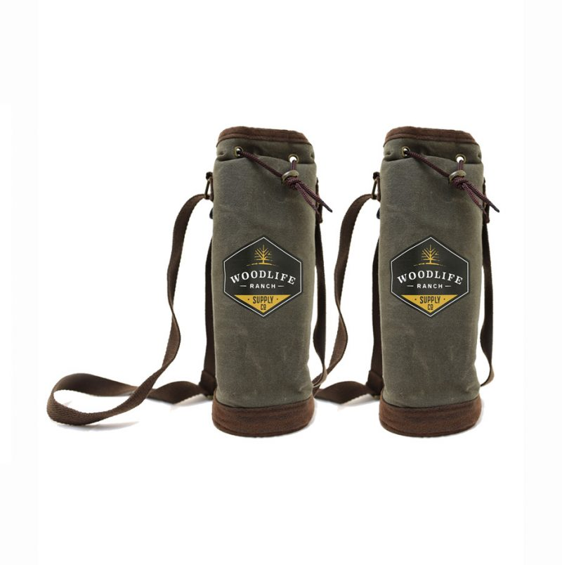 Woodlife Ranch Single Wine Tote (Set of 2)