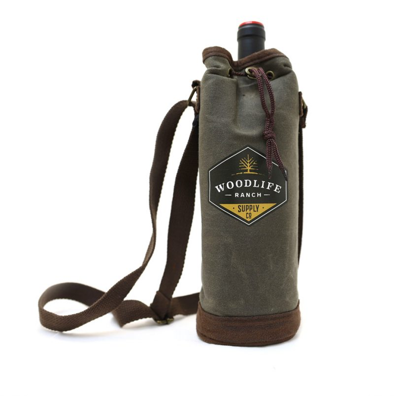 Woodlife Ranch Single Bottle Wine Tote