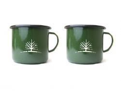 Woodlife Ranch Large Enamel Mug (Set of 2)