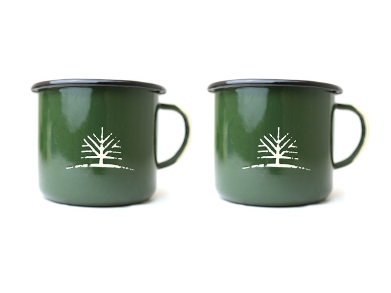 Woodlife Ranch Large Enamel Mug (Set of 2)