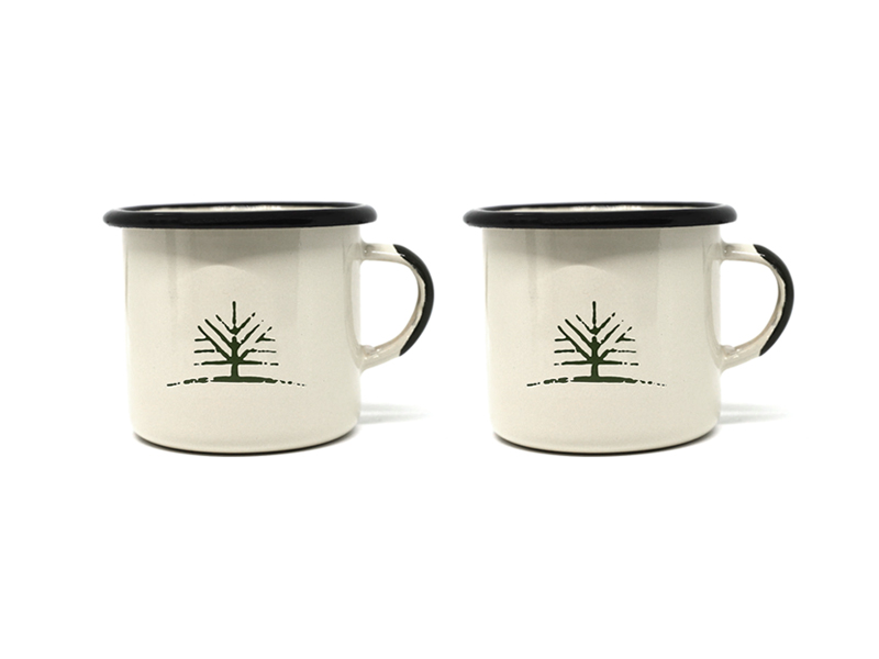 Woodlife Ranch Small Enamel Mug (Set of 2)